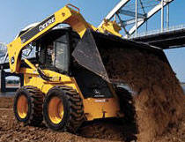 We rent bobcats and skid steers with wheels and tracks