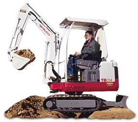 We rent mini excavators