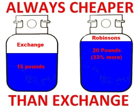 Propane filling is a better deal than exchanging