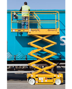 We rent scissor lifts